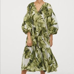 H & M Palm leaf dress